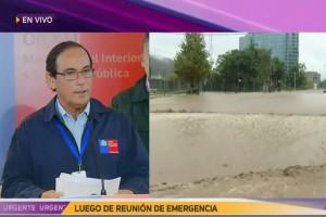TEMPORAL: Informe de la ONEMI por fuertes lluvias que afectan a Santiago