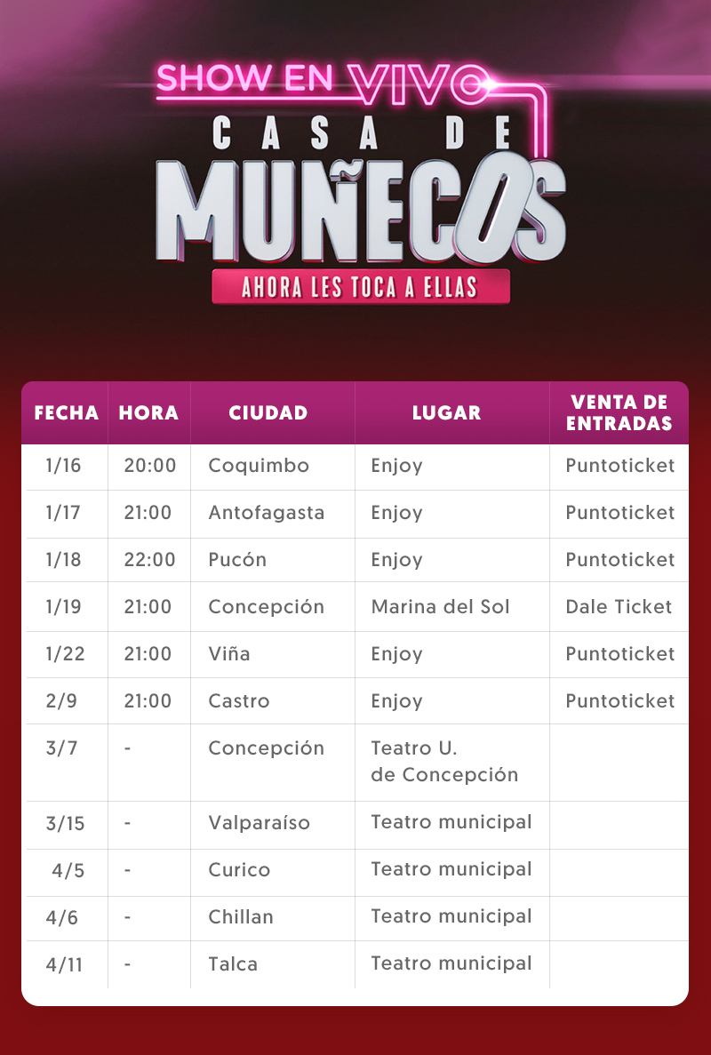 6612b6ccb Enjoy Viña del Mar. https://www.puntoticket.com/evento/casa-de-munecos -Enjoy-Vina-Del-Mar